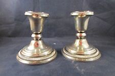 Pair of Sterling Silver Candlesticks Frank M Whiting Lovely Candle Holders