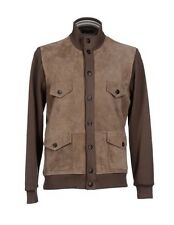 3,500$ Canali Suede and Cotton Jacket Size XXL or EU 56 Made in Italy
