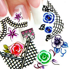 11 in1 Fantasy Nail Art Decal Water Slide Transfer Temporary Tattoo Stickers W38