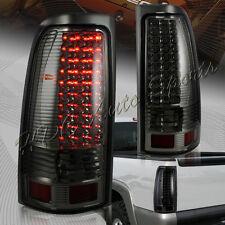 For Chevy/Silverado GMC/Sierra 1500 2500 3500 LED Smoke Housing Tail Lights Lamp