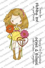 ANYA BLOOMS-The Greeting Farm Cling Mount Rubber Stamp Set-Stamping Craft-Miss