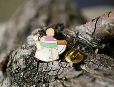 Baby Flower Pot Watering Can Teapot Kettle Lapel Pin Pinback Copper Tone Metal