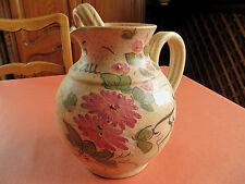 Joli grand pichet céramique vallauris décor fleuri 23cm moustiers boisson table