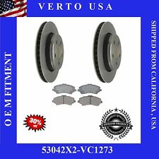 Set Of 2 Front Brake Rotors & Ceramic Pads, For Jeep Liberty, Dodge Nitro 53042