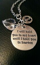 Baby Memorial charm 'I will hold you in my heart until I hold you in heaven gift