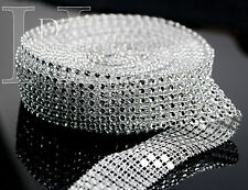 Sparkling Round Diamante Effect Ribbon Cake Trim Diamond Wedding Trimming 9m