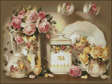 Needlework Crafts Full Embroidery DIY Counted Cross Stitch Kits Tea Pot