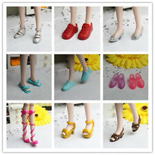 hot High quality Original 10 pairs boots shoes for Barbie Doll Party c434 Random