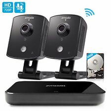 Zmodo 1080p HDMI NVR 2 Audio Wireless IP Home Security Camera System 500G HDD