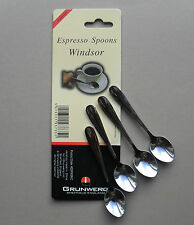 Espresso Coffee Stainless Steel Spoon, Pack of 4 Spoons, Windsor by Grunwerg