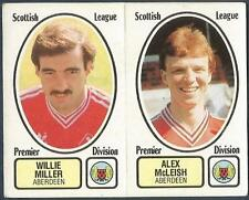 PANINI FOOTBALL 82 #417-A-B-ABERDEEN-WILLIE MILLER / ALEX McLEISH