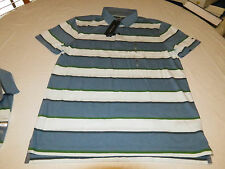 Mens Tommy Hilfiger Polo shirt M Striped 7871392 BF Blue 422 Custom Fit NEW