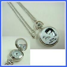 Elvis Presley Ladies Girl Men Boy Fashion Pocket Watch Necklace + GIFT
