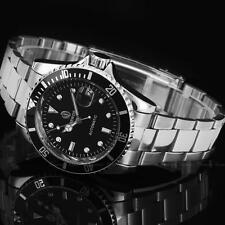 Men's Classic Steampunk Pro Diver Automatic Black Dial Stainless Steel Watch