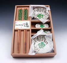 Gift Set Chinese Dining Ware Chopsticks & Holders & Saucers BRAND NEW #11061501