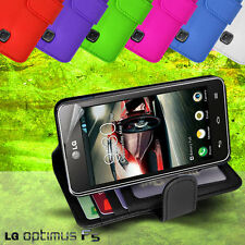 Photo ID Wallet Flip Leather Case Cover for LG Optimus F5 4G P875 + SP card slot