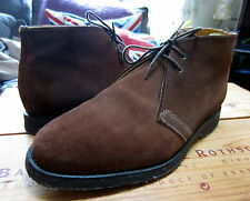 Le Northamptonshire fait main en daim marron chocolat Chukka Pointure uk 7 eu 41