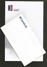 ms Jubilee . Carnival Cruise Line Stationery Set, Pacific Sun Ship Fun Boat