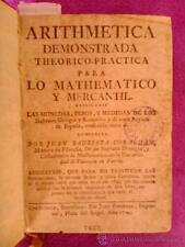 ARITMETICA DEMOSTRADA TEORICO PRACTICA PARA LO MATEMATICO Y MERCANTIL