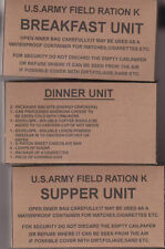 SET OF MID WAR WW2 US K RATION BOXES (REPRO)