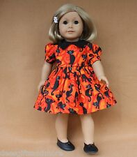 Doll Clothes fitting 18 inch American Girl Dolls Black Cat Halloween Dress Shoes