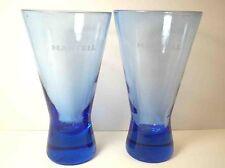 Cobalt Blue MARTELL COGNAC cocktail cordial glasses Pair 2 6 oz