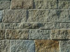 100 sq ins maison de poupées rough faced grey stone feuillets