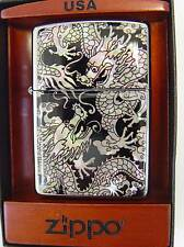 Zippo® Mother of Pearl Perlmutt  Dragon Drache ovp in Magnet Holzbox Neu / New