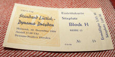 Ticket collectors EC Dynamo Dresden Standard Liege 1980 DDR Germany Belgium *big