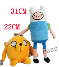 2PCS Adventure Time toys cosplay Finn and jack Plush Doll Toy anime gifts