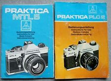 2 x PRAKTICA INSTRUCTION MANUALS. PLC2 & MTL5