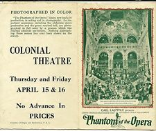Phantom Of The Opera -Original 1925 Herald