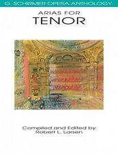 Arias for Tenor G. Schirmer Opera Anthology Vocal Collection NEW 050481099