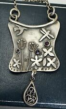 Pre-owned STERLING SILVER London Designer Unusual Studio NECKLACE - Dragonfly