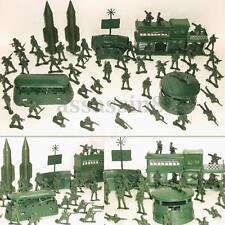56PCS Military Missile Base Model Playset Toy Soldier GreenFigure Army Kid Toy