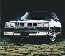 1981 OLDSMOBILE Brochure / Catalog with Color Chart: CUTLASS / OMEGA SX / SPORT