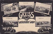 AK Lockstedt Lockstedter Lager 1915 Feldpost Geschütze Reiter Weltkrieg Soldaten