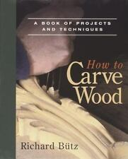 How to Carve Wood: A Book of Projects and Techniques (Fine Woodworking-ExLibrary