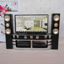 Dollhouse Furniture Living Room Accessories Hi-Fi TV Theatre Set For Barbie Room