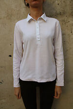 Gant Woman Top Polo Shirt Long Sleeved jumper Sweater Light Pink M Stretch NICE