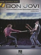 Signature Licks Guitar Bon Jovi Learn to Play Richie Sambora TAB Music Book CD