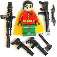 BM057w Lego Batman Defend the Batcave - Robin Minifigure Mess Weapons 10672 NEW