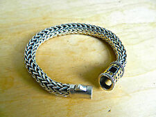 CLASSIC THICK JOHN HARDY WOVEN CABLE STERLING & 18K 10MM  66.4 grams