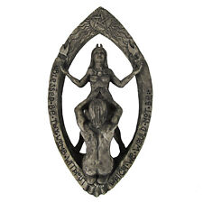 Drawing Down The Moon Wall Plaque - Stone Finish Dryad Designs - Pagan Wiccan