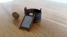 MINIATURE DOLLS HOUSE HANDMADE WOODEN WASH TUB AND WASHBOARD 1.12 SCALE
