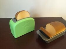 "AMERICAN GIRL GOURMET KITCHEN 18"" doll loaf of bread pan toaster NEW toy set"