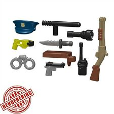 Brickforge Tactical PATROL OFFICER Police Weapon Pack for Lego -No Minifigure-