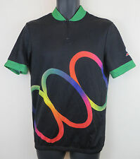 Vtg Cycling Retro Jersey Marilena Shirt Vintage Trikot Maillot Black Medium 4