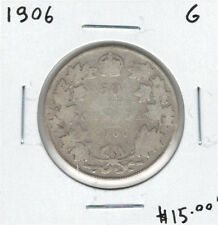 Canada 1906 Silver 50 Cents G