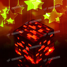 New Minecraft Light-Up Diamond Ore Night Light Toy Gift Red Ore Night Light